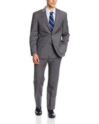 Nautica Stripe 2 Button Center Vent Suit With Pleated Pant