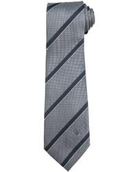Versace Multi Stripe Silk Tie Graywhite