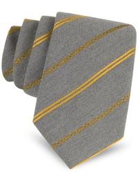 Moschino Narrow Signature Striped Silk Tie