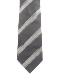 Saint Laurent Yves Silk Striped Tie