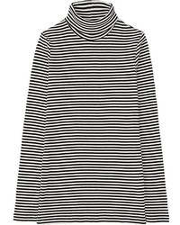 Uniqlo Ribbed Striped Turtleneck Long Sleeve T
