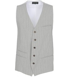 Grey Vertical Striped Waistcoat