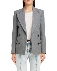Isabel Marant Pinstripe Wool Linen Blazer