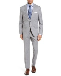 BOSS Jewelslinus Trim Fit Stripe Wool Suit