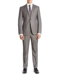 Armani Collezioni M Line Pinstripe Wool Suit