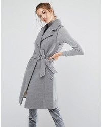 Oasis Sleeveless Belted Smart Coat