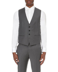 Boss Black Formal Stretch Wool Waistcoat
