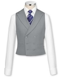 Charles Tyrwhitt Classic Fit Grey Wool Morning Suit Vest