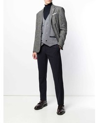 Lardini Double Breasted Fitted Waistcoat