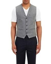 Brunello Cucinelli Flannel Waistcoat Grey