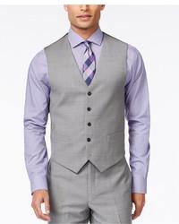 Tommy Hilfiger Grey Sharkskin Classic Fit Vest