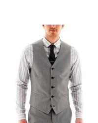 0fb2066f50f6 ... JF J.Ferrar Jf J Ferrar Slim Fit Suit Vest Gray