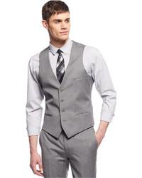 Bar III Light Grey Extra Slim Fit Vest