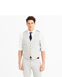 J.Crew Ludlow Suit Vest In Japanese Seersucker