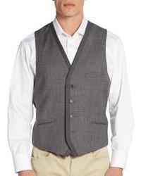 Vince Camuto Melange Flannel Wool Vest