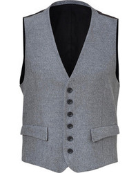 Rag and Bone Rag Bone Heather Greyblack Cotton Waistcoat