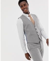 Burton Menswear Skinny Fit Waistcoat In Grey