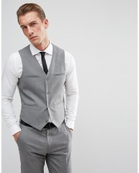 ASOS DESIGN Slim Suit Waistcoat In Grey