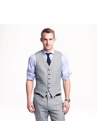 Ludlow Suit Vest In Italian Linen Cotton