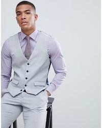 Burton Menswear Suit Waistcoat In Light Grey