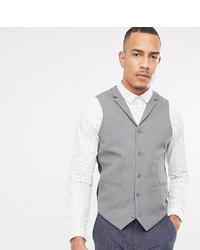 ASOS DESIGN Tall Super Skinny Waistcoat In Grey