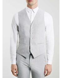Topman Grey Oxford Waistcoat