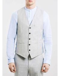 Topman Light Grey Suit Vest