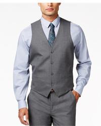 Alfani Traveler Grey Solid Slim Fit Vest Only At Macys