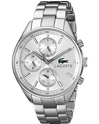 Lacoste Unisex 2000865 Philadelphia Silver Tone Stainless Steel Watch