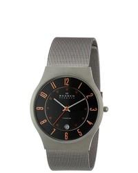Skagen Denmark Grey Titanium Watch 233xlttmo