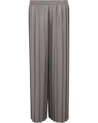Golden Goose Deluxe Brand Farrah Pleated Poplin Pants Gray