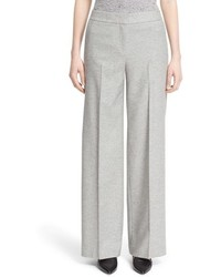 Nordstrom Signature And Caroline Issa Winter Flannel Wide Leg Pants