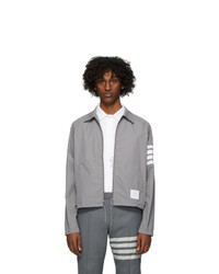 Thom Browne Grey Flyweight Windbreaker Jacket
