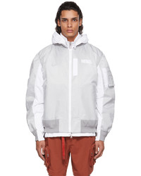 Nike Grey Sacai Edition Bomber Jacket