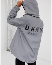 DKNY Reflective Hooded Jacket With Back Logo