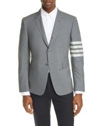 Thom Browne 4 Bar Melange Wool Sport Coat
