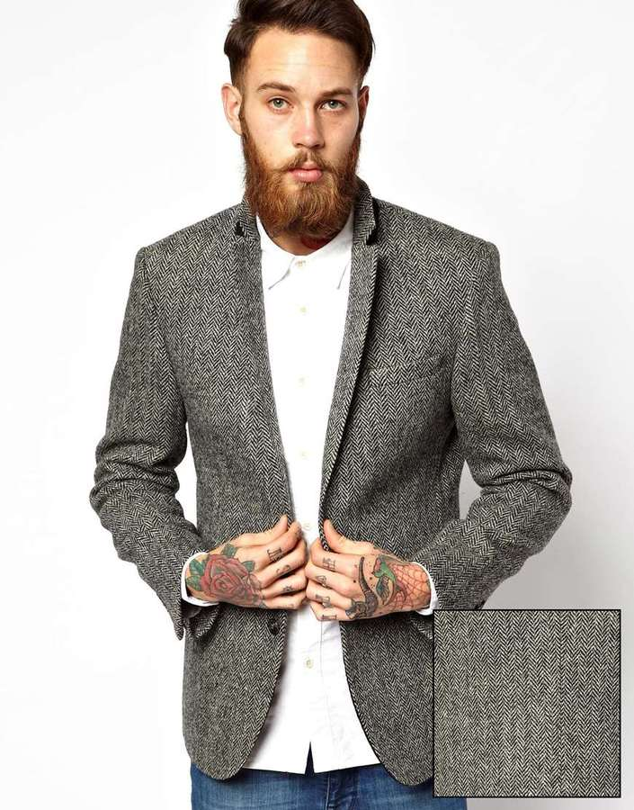 Asos Slim Fit Blazer In Harris Tweed | Where to buy & how to wear