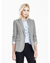 Banana Republic Gray Lightweight Wool Blazer