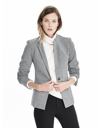 Banana Republic Lightweight Wool Inverted Collar Blazer