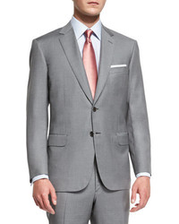 Brioni Colosseo Solid Two Piece Wool Suit Light Gray