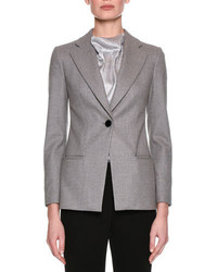 Classic single button blazer gray medium 4156806