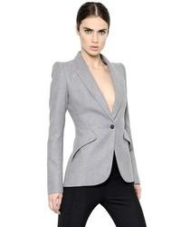 Alexander McQueen Flannel Wool Cashmere Jacket