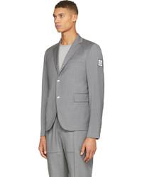 ... Moncler Gamme Bleu Grey Wool Classic Blazer ...