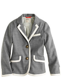 J.Crew Girls Schoolboy Blazer In Tipped Flannel