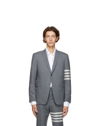 Thom Browne Grey 4 Bar Classic Sport Coat Blazer