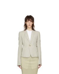 Rick Owens Grey Classic Tailored Short Blazer