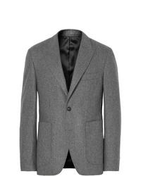 Salle Privée Grey Lloyd Slim Fit Mlange Wool Flannel Suit Jacket