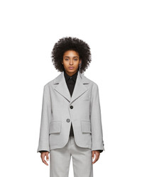 MM6 MAISON MARGIELA Grey Oversized Blazer