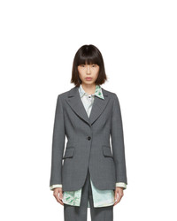 MM6 MAISON MARGIELA Grey Suiting Blazer