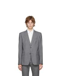 AMI Alexandre Mattiussi Grey Two Buttons Blazer